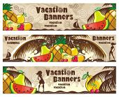 Vacation banners set. To see similar, please VISIT MY PORTFOLIO