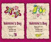 Valentine's day vintage paper backgrounds series 1
