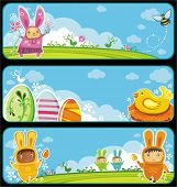 Easter cute banners with space for your text
