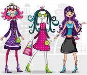 Urban fashion girls (from fashion girl series)
