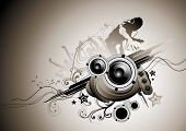 Raw beats... Musical vector elements.
