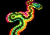 Retro Rainbow Lines - vector background.