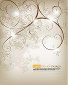 Elegant foliage background design, eps10 vector format