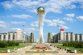 Bayterek Tower in Astana. symbol of Kazakhstan