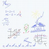 school vector seamless background