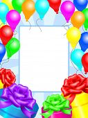 Decoration frame for birthday and party