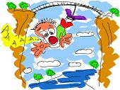 Bungee jumping vector drawing