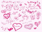 Hand drawn love theme Vector. Visit my portfolio for big collection of doodles