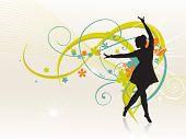 Zijn een meisje dansen van prachtige vector achtergrond