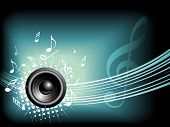 Music vector background with space for text