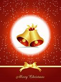 Christmas Element bell vector background