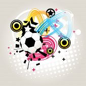 vector abstract football in funky background