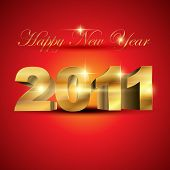 new year golden color vector elegant design