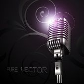 vector mic in dark background