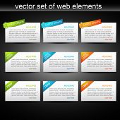 vector set of web elements to be use for your projects