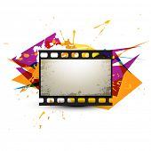 abstract photo reel artwork design