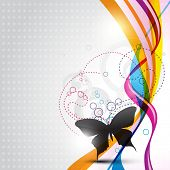 abstract vector butterfly design illustration