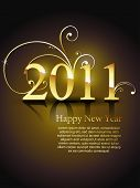 beautiful golden color vector new year design art