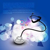 abstract stethoscope on blue background