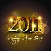 new year stylish golden template design