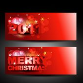 vector christmas and new year labels design