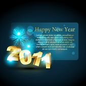 vector shiny new year background design