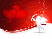 vector cupid heart background design