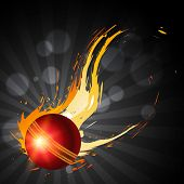 picture of cricket ball  - abstract cricket ball artistic background - JPG