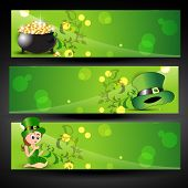 abstract st. patricks day headers