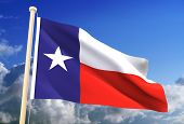 stock photo of texas flag  - High resolution 3D Texas flag  - JPG