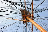 Mast And Rigging On A Tall Ship