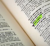 word selection in the dictionary - as a certain character or concept