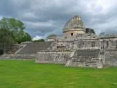 Old Astronomic Maya Temple, Chichen Itza, Mexico