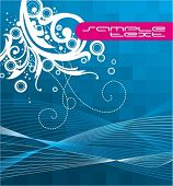 Abstract blue background, flayer