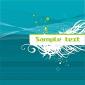 Abstract deep-turquoise background, flayer