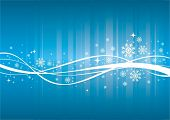 Blue winter background with snowflakes