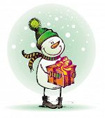 Boneco de neve com brinde