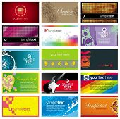 Collection of horizontal colorful business card