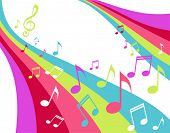 music rainbow with notes