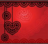 vector lace background with heart