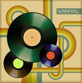 vector retro vinyl cover