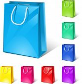 vector shopping bags (8 colour versions)