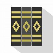 Three Literary Books Icon. Flat Illustration Of Three Literary Books Icon For Web poster