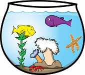 Fun Cartoon Fishbowl