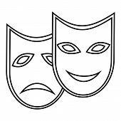 Carnival Mask Icon. Outline Illustration Of Carnival Mask Icon For Web poster