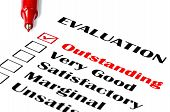 stock photo of performance evaluation  - Outstanding evaluation - JPG