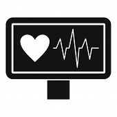 Heartbeat Icon. Simple Illustration Of Heartbeat Icon For Web poster