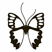 Nice Butterfly Icon. Simple Illustration Of Nice Butterfly Icon For Web poster