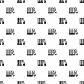 Office Folders Pattern. Simple Illustration Of Office Folders Pattern For Web poster