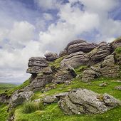 Saddle Tor, Dartmoor National Park, Devon England Uk poster